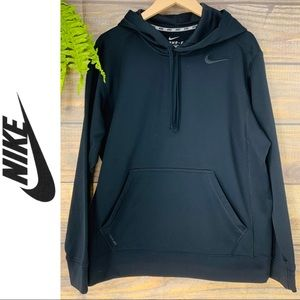 Men's Black Therma-Fit Hoodie Sweatshirt by Nike M